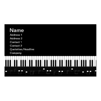 Piano keyboard pack of standard business cards