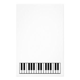 Piano Keyboard Personalized Stationery