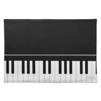 Piano keyboard placemat