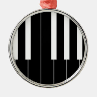 Piano Keyboard Silver-Colored Round Decoration
