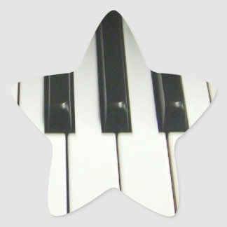 Piano Keyboard Star Sticker