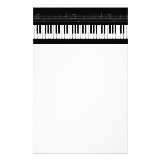 Piano keyboard stationery design