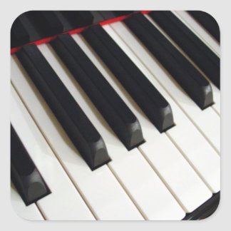 Piano Keyboard Square Sticker