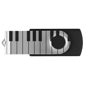 Piano Keyboard Swivel USB Drive Swivel USB 2.0 Flash Drive