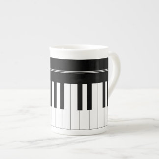 Piano keyboard tea cup