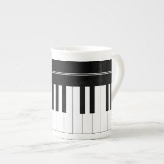 Piano keyboard tea cup