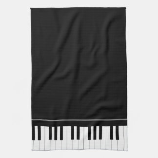 Piano keyboard tea towel