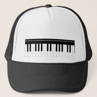 Piano keyboard trucker hat
