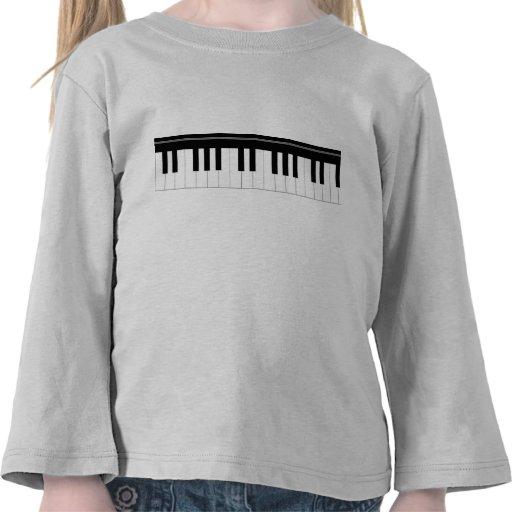 Piano keyboard tshirts