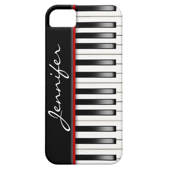 Piano Keyboard with name iPhone 5 Covers