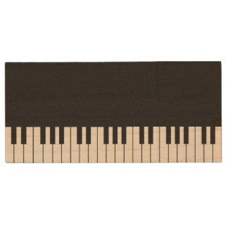 Piano Keyboard Wood USB Drive Wood USB 2.0 Flash Drive