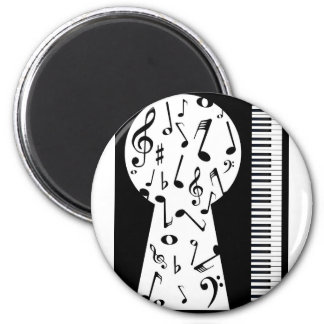 Piano Keyhole 6 Cm Round Magnet