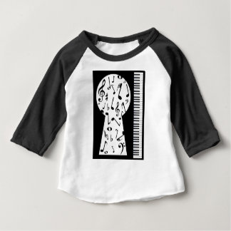 Piano Keyhole Baby T-Shirt