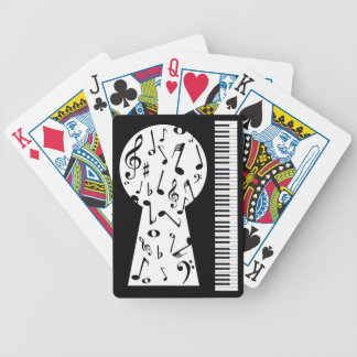 Piano Keyhole Bicycle Playing Cards