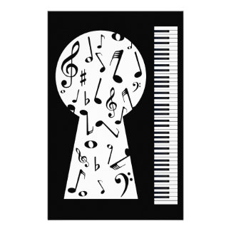 Piano Keyhole Stationery