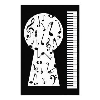 Piano Keyhole Stationery Paper