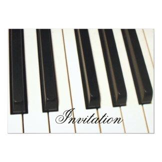 Piano Keys_ 13 Cm X 18 Cm Invitation Card