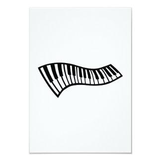 Piano keys 3.5x5 paper invitation card
