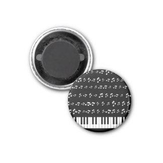 Piano Keys 3 Cm Round Magnet