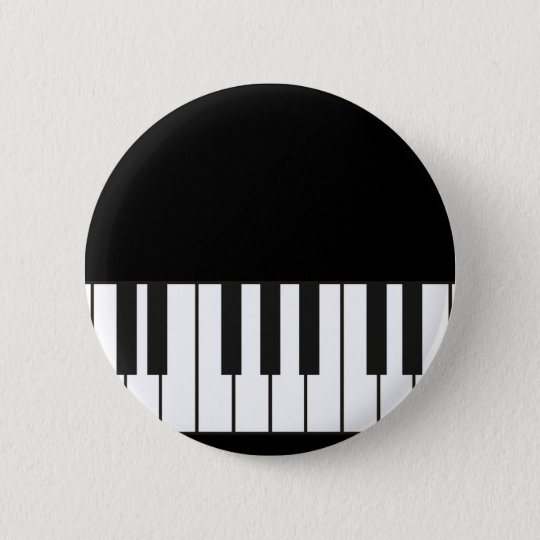 Piano Keys 6 Cm Round Badge