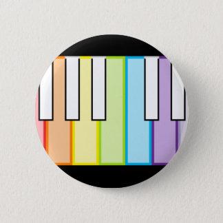 piano keys 6 cm round badge