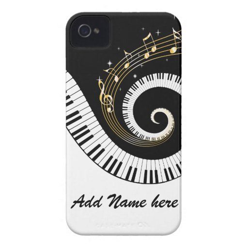 Piano Keys and Gold Music Notes Blackberry case