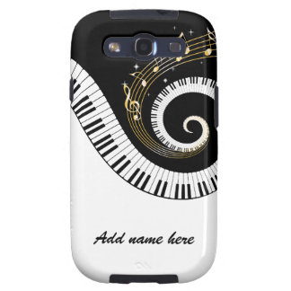 Piano Keys and Gold Music Notes Galaxy S3 Cases