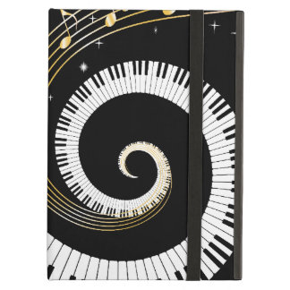 Piano Keys and Gold Music Notes iPad Air Cover