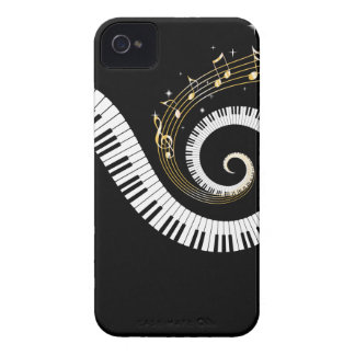 Piano Keys and Gold Music Notes iPhone 4 Cases