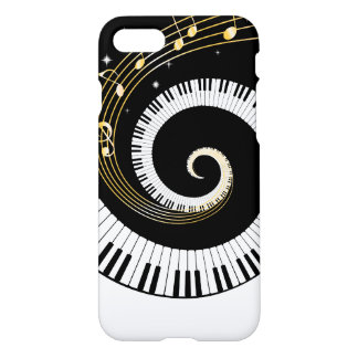 Piano Keys and Gold Music Notes iPhone 8/7 Case
