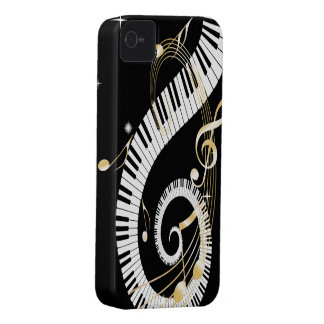 Piano Keys and Golden Music Notes Case-Mate iPhone 4 Case