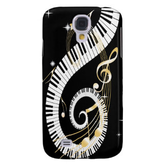Piano Keys and Golden Music Notes Galaxy S4 Case