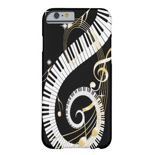 Piano Keys and Golden Music Notes iPhone 6 case