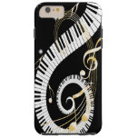 Piano Keys and Golden Music Notes iPhone 6 case Tough iPhone 6 Plus Case