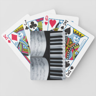 Piano Keys and Music Book Bicycle Playing Cards