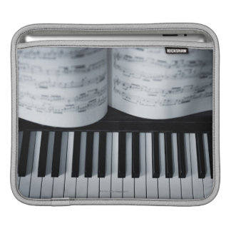 Piano Keys and Music Book iPad Sleeves