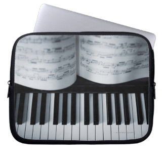 Piano Keys and Music Book Laptop Sleeve