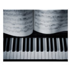 Piano Keys and Music Book Poster
