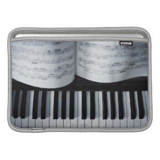 Piano Keys and Music Book Sleeve For MacBook Air