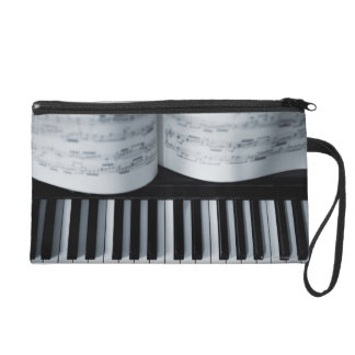 Piano Keys and Music Book Wristlet