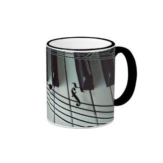 Piano Keys and Music Notes Coffee Mug