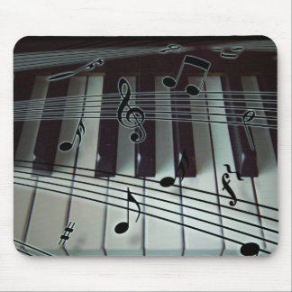 Piano Keys and Music Notes Mouse Pad