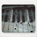 Piano Keys and Music Notes Mousepads