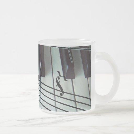 Piano Keys and Music Notes Mugs