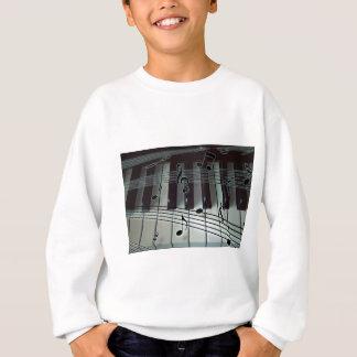 Piano Keys and Music Notes Sweatshirt