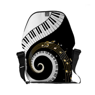 Piano Keys and  Musical Notes Commuter Bag