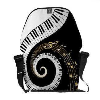 Piano Keys and  Musical Notes Courier Bag