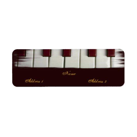 Piano Keys Avery Label Return Address Label