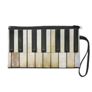 Piano Keys Wristlet Purses