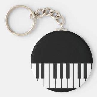 Piano Keys Basic Round Button Key Ring